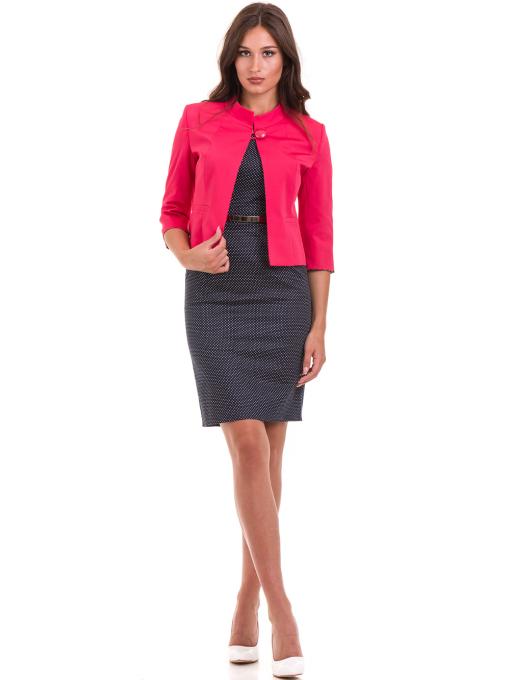 Дамско сако MODE CLASS - тъмно розово от Indigo Fashion 2