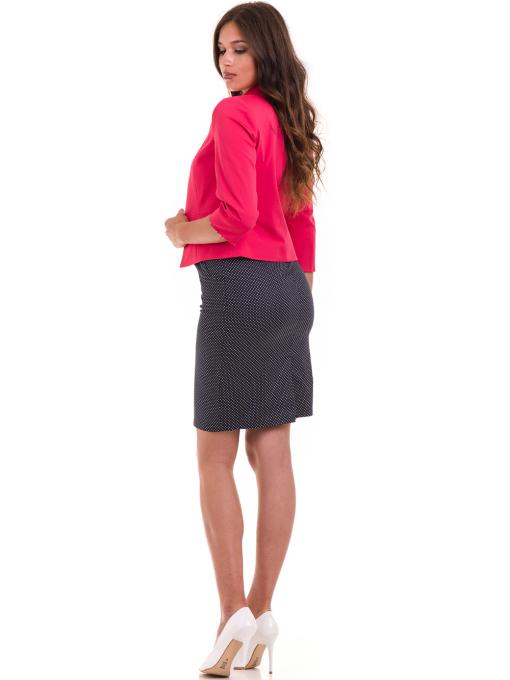 Дамско сако MODE CLASS - тъмно розово от Indigo Fashion 3