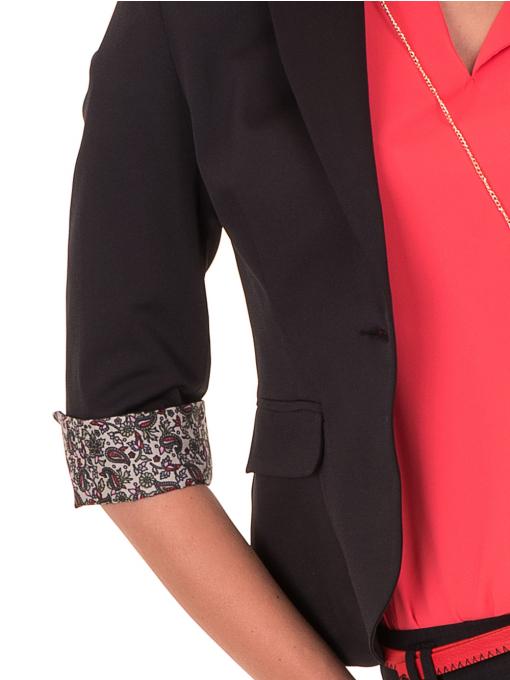 Дамско сако MODE CLASS - черно от Indigo Fashion 4