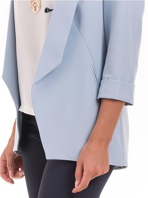 Дамско сако MODE CLASS - светло синьо от Indigo Fashion 4