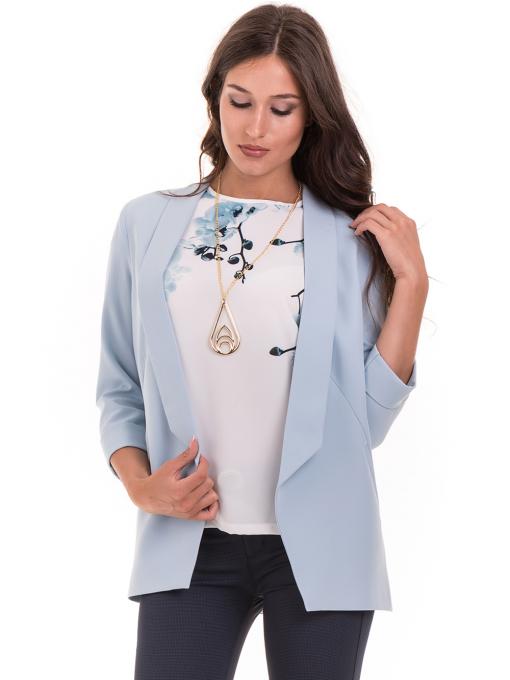 Дамско сако MODE CLASS - светло синьо от Indigo Fashion