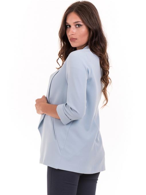 Дамско сако MODE CLASS - светло синьо от Indigo Fashion 1
