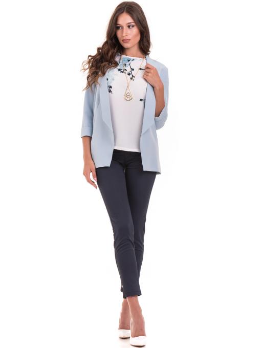 Дамско сако MODE CLASS - светло синьо от Indigo Fashion 2