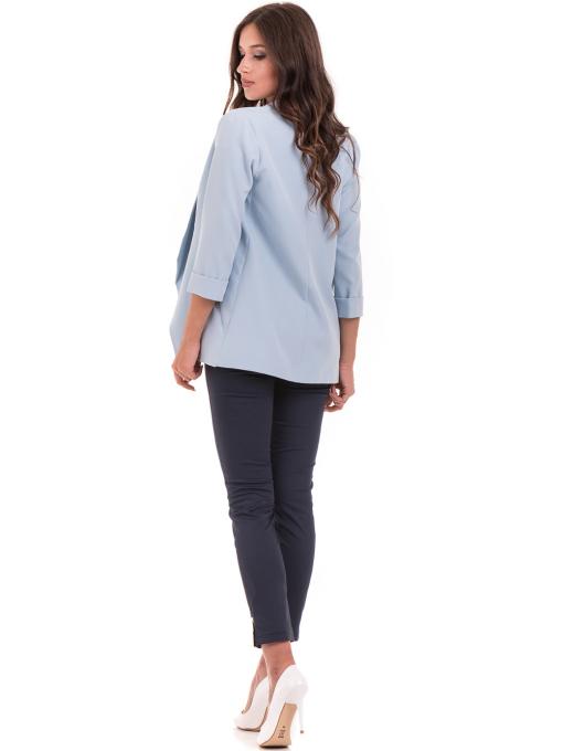 Дамско сако MODE CLASS - светло синьо от Indigo Fashion 3