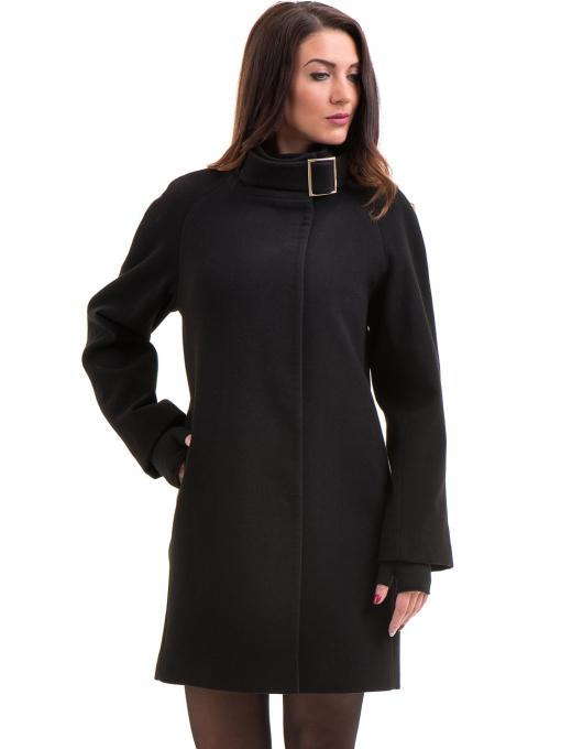 Елегантно дамско палто ICON 9201- черно