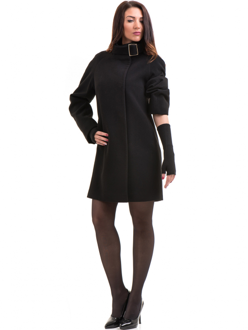 Елегантно дамско палто ICON 9201- черно C
