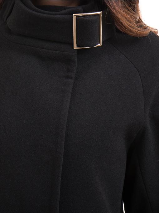 Елегантно дамско палто ICON 9201- черно D