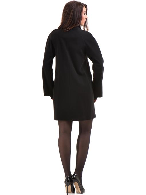 Елегантно дамско палто ICON 9201- черно E