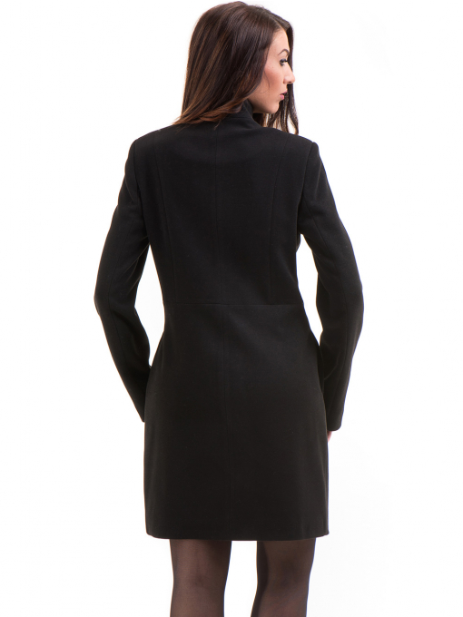 Класическо елегантно дамско палто MODE CLASS 4089 - черно B