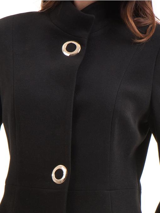 Класическо елегантно дамско палто MODE CLASS 4089 - черно D