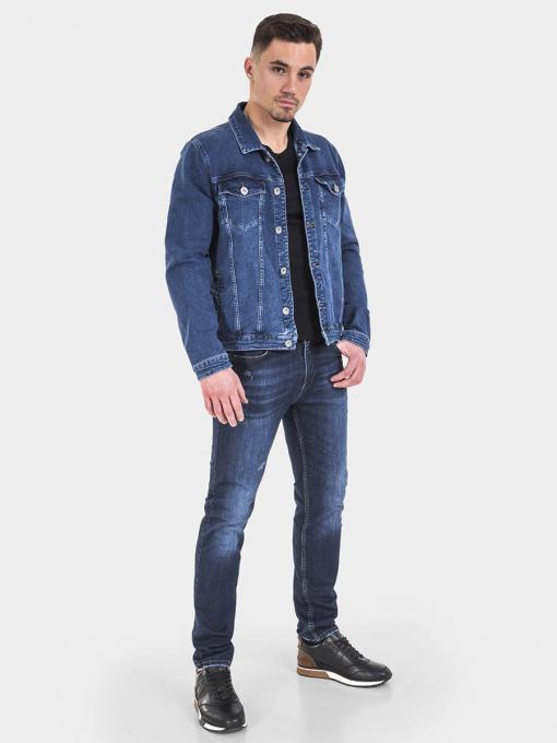 Класическо мъжко дънково яке 6215 INDIGO Fashion
