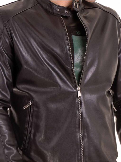Мъжко спортно-елегантно яке XINT 348 - черно D