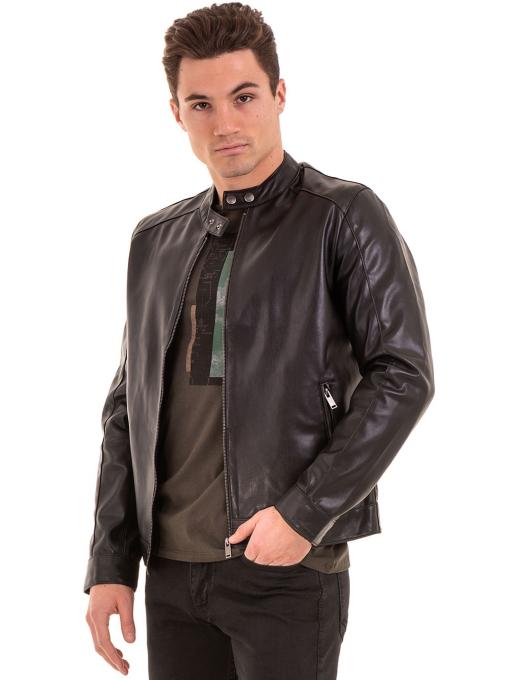 Мъжко спортно-елегантно яке XINT 348 - черно