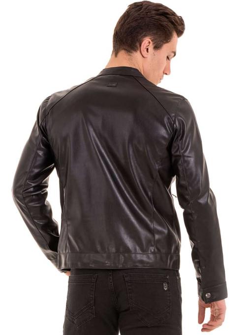 Мъжко спортно-елегантно яке XINT 348 - черно B