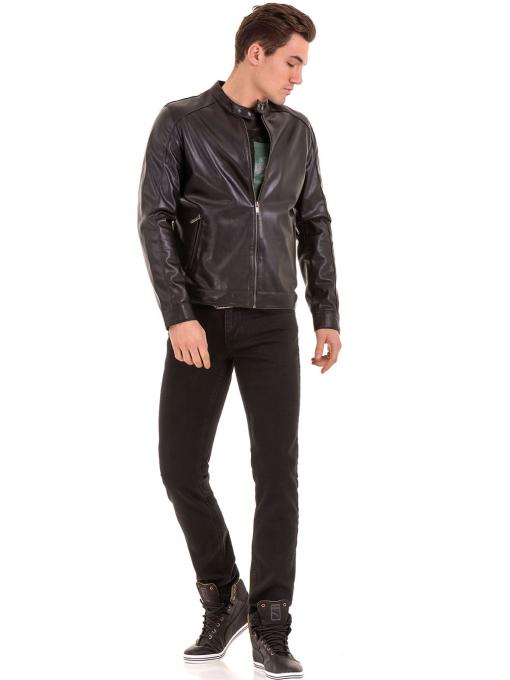 Мъжко спортно-елегантно яке XINT 348 - черно C