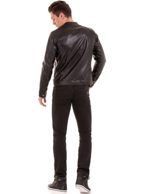 Мъжко спортно-елегантно яке XINT 348 - черно E