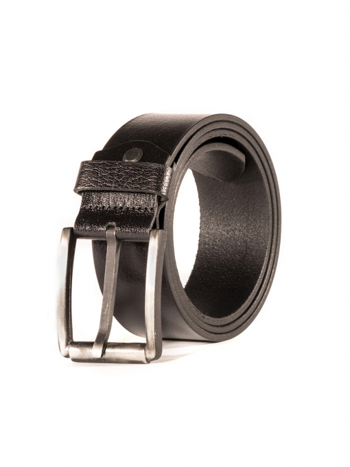 Черен колан от естествена кожа 53153 INDIGO Fashion
