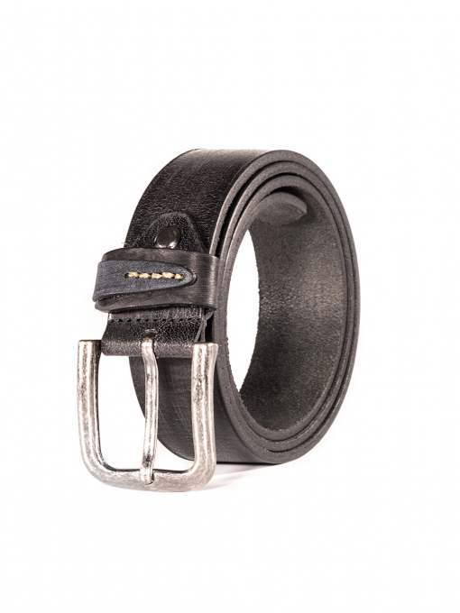 Черен колан от естествена кожа 53163 INDIGO Fashion