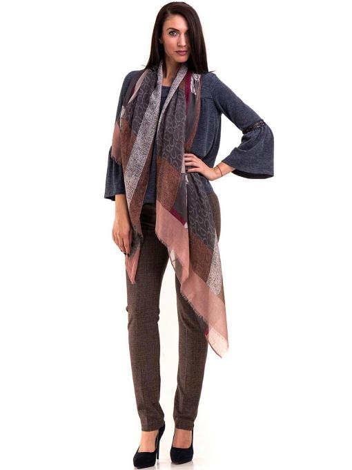Дамски панталон KYLIE с италиански джоб и колан B478 - светло кафяв C1