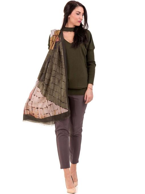 Дамска блуза от фино плетиво STAMINA 18575 - цвят каки C1