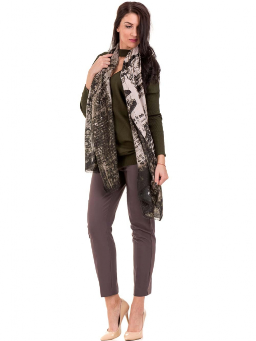 Дамска блуза от фино плетиво STAMINA 18575 - цвят каки C2