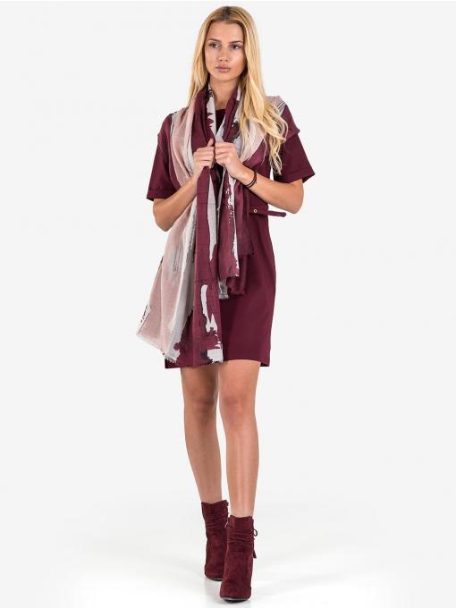 Рокля F&K с колан - бордо 3921 INDIGO Fashion