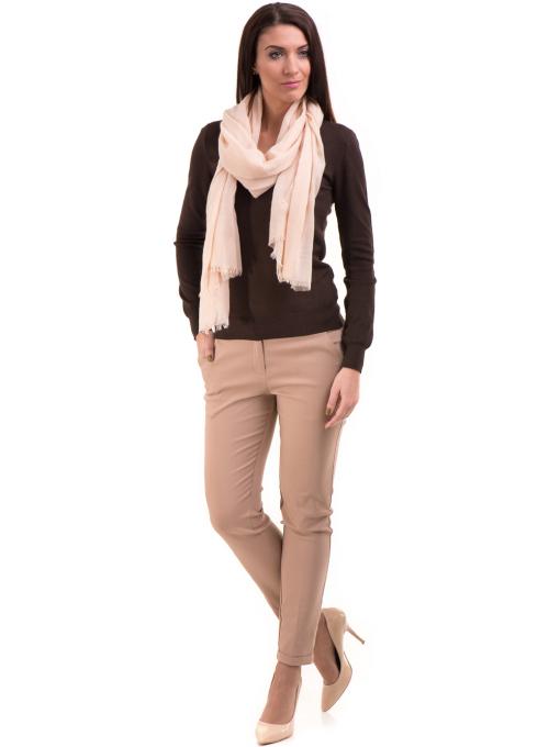 Дамска блуза STAMINA с овално деколте 1302 - кафява C1
