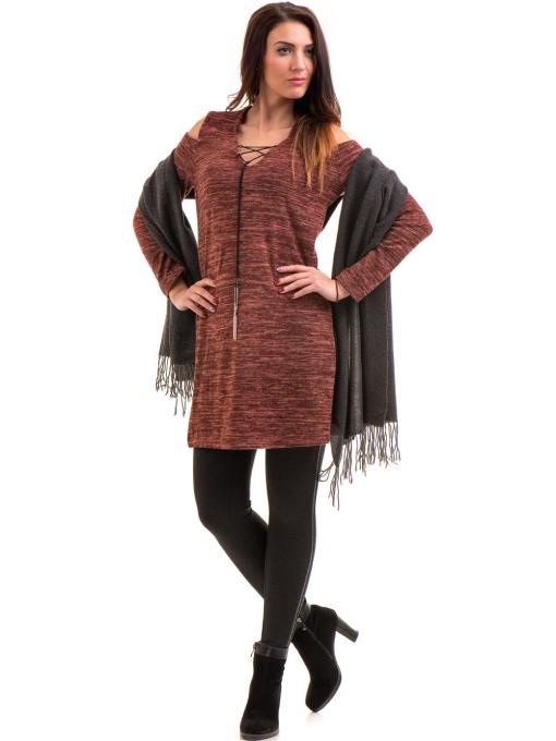 Туника ZANZI - цвят керемида от Indigo Fashion 3