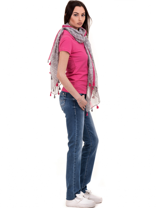 Дамска блуза с яка JOGGY GIRLS 4003 - тъмно розова C1