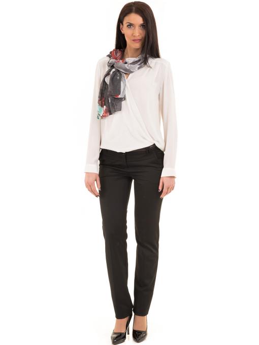 Елегантна дамска блуза ZANZI 16024 - бяла C1