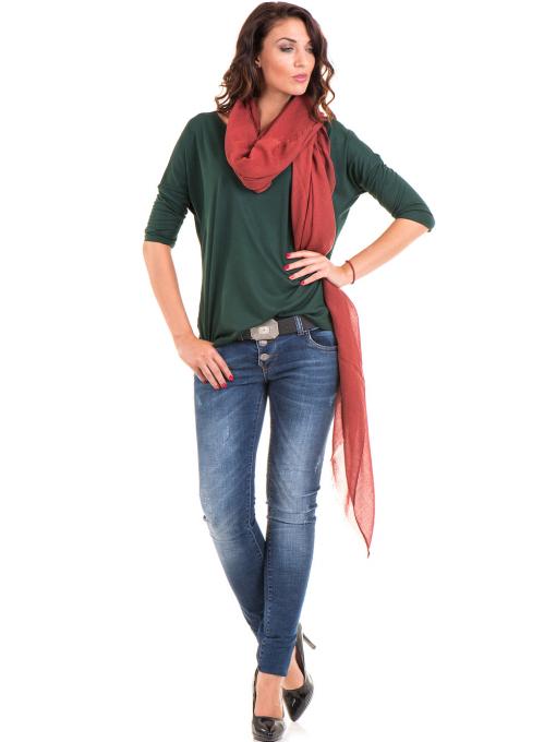 Дамска блуза свободен модел STAMINA 211 - цвят каки C1
