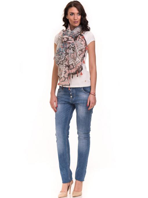 Дамска едноцветна тениска XINT 175 - екрю C1