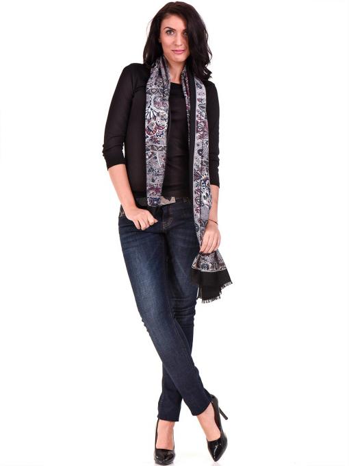 Дамска вталена блуза STAMINA 12375 - черна C2