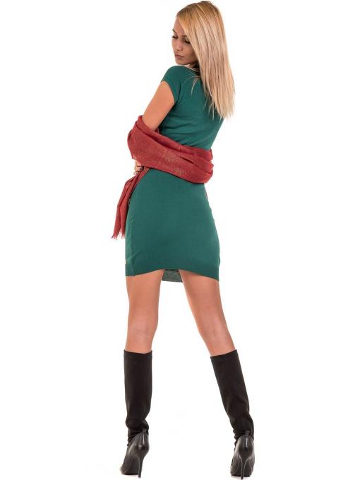 Рокля KAZEE от фино плетиво 10707- зелена C2