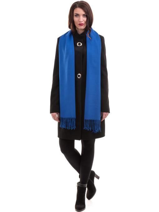 Класическо елегантно дамско палто MODE CLASS 4089 - черно C3