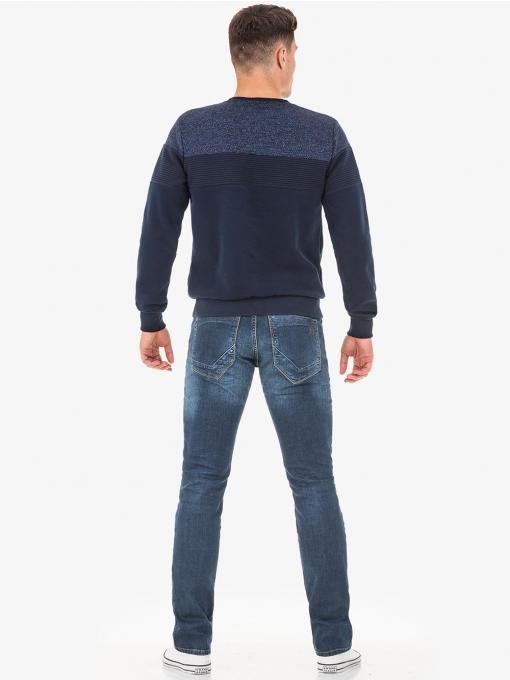 Мъжки пуловер MCL 29168 тъмно син - INDIGO Fashion