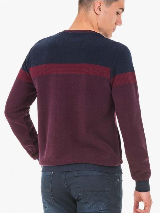 INDIGO Fashion - Мъжки пуловер MCL 29371 - бордо - Big Size