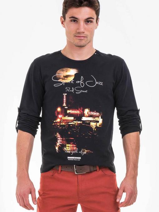 Мъжка блуза VIGOSS 60228-09 INDIGO Fashion