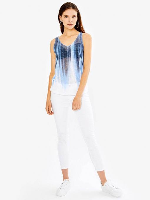Дамски топ в преливащ син цвят 601576 INDIGO Fashion