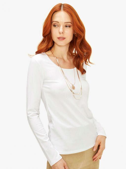 Бяла дамска блуза - basic модел 601610 INDIGO Fashion