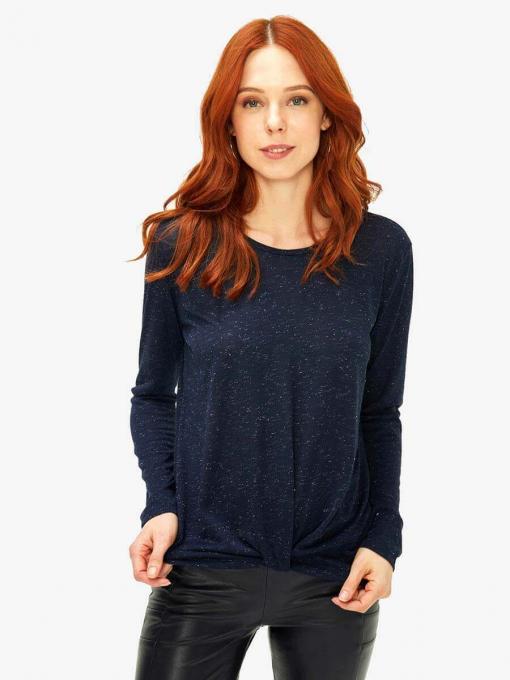 Дамска блуза с дълъг ръкав - тъмносиня 601631 INDIGO Fashion
