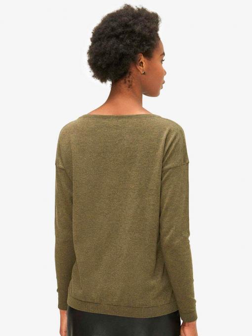 Дамска блуза с паднал ръкав - каки 850617 INDIGO Fashion