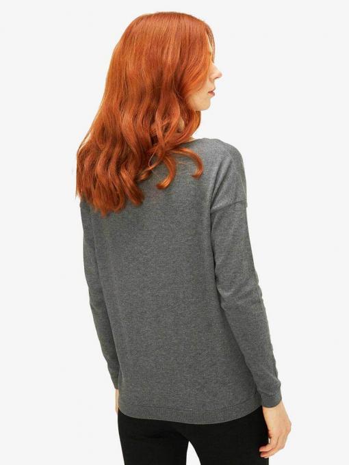 Дамска блуза с паднал ръкав - сива 850617 INDIGO Fashion