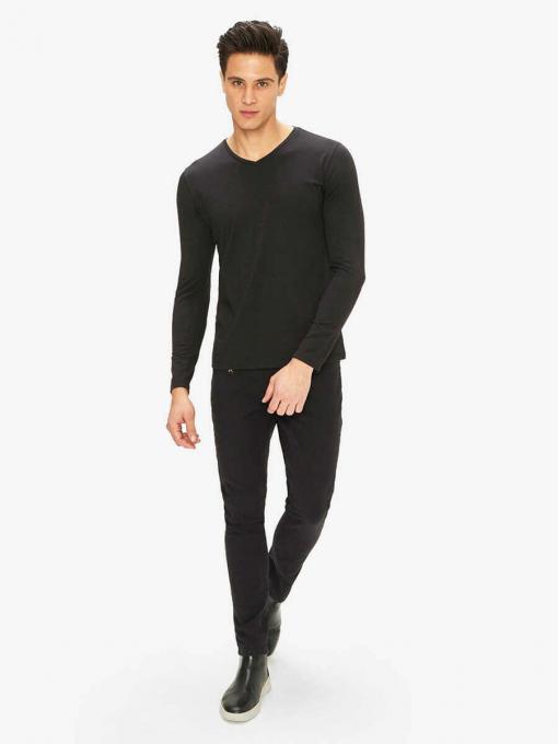 Мъжка блуза от трико - черна 501530 INDIGO Fashion