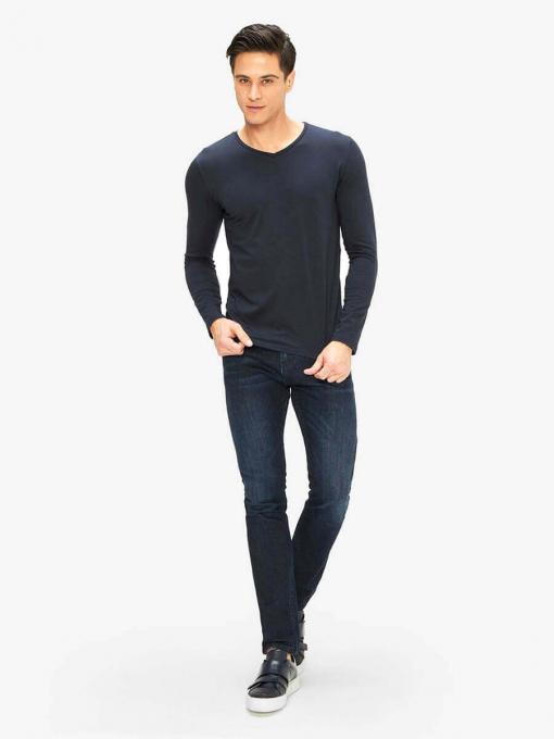 Мъжка блуза от трико - тъмносиня 501530 INDIGO Fashion