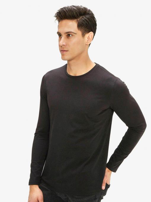 Мъжка basic блуза - черна 501531 INDIGO Fashion