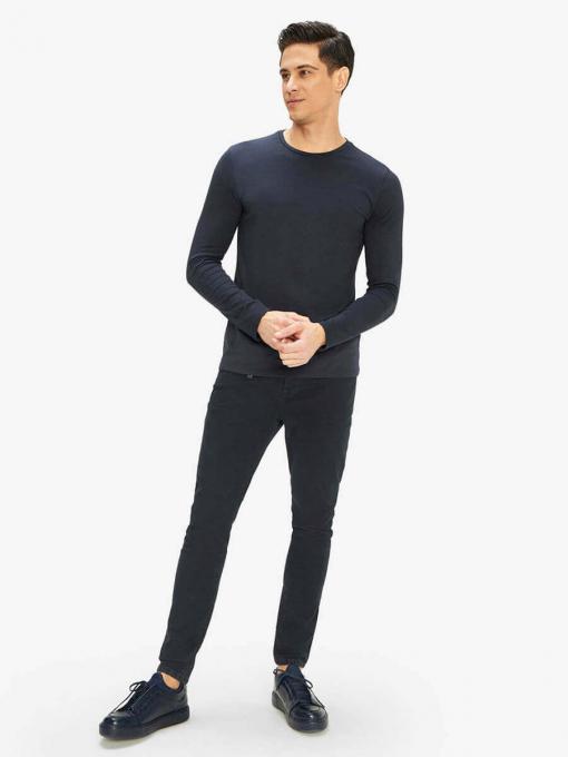 Мъжка basic блуза - тъмносиня 501531 INDIGO Fashion
