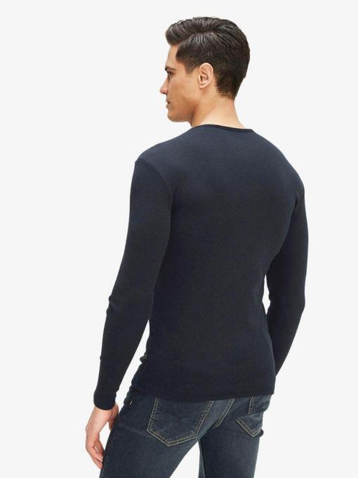 Tъмносиня мъжка вталена блуза 501532 INDIGO Fashion