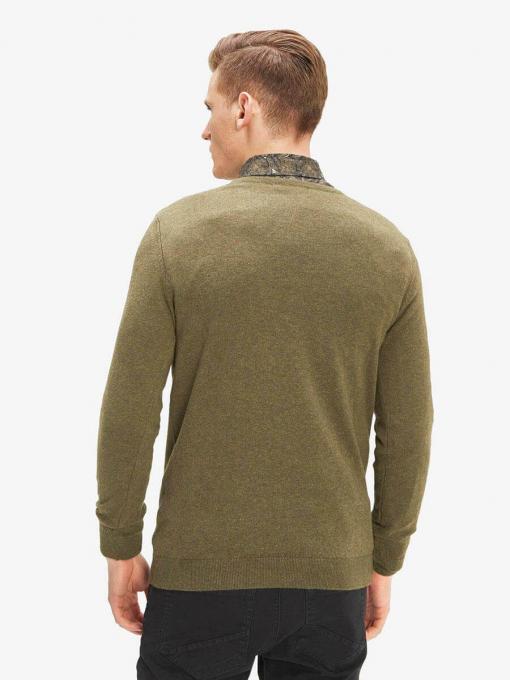 Мъжки пуловер - цвят каки 801532 INDIGO Fashion