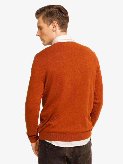 Мъжки пуловер - цвят керемида 801532 INDIGO Fashion